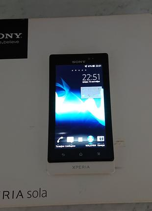 Мобильный телефон Sony Xperia Sola MT27i White