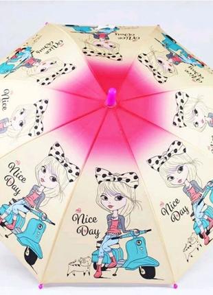 Зонт трость детский Lucky elephants механический
