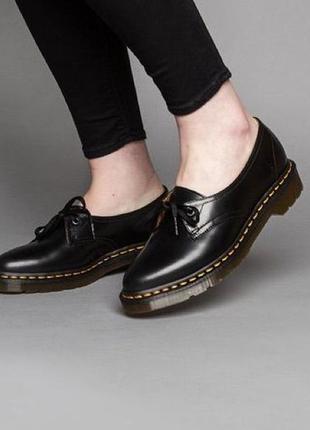 Стильные кожаные туфли лоферы dr.martens