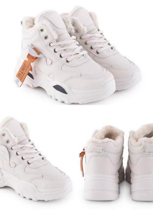Женские зимние кроссовки на меху 2 цвета