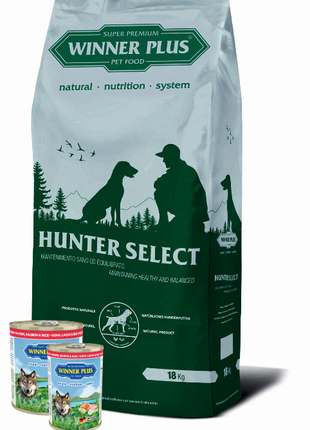 Акция от WINNER PLUS -Сухой корм для собак + 2 консервы в подарок