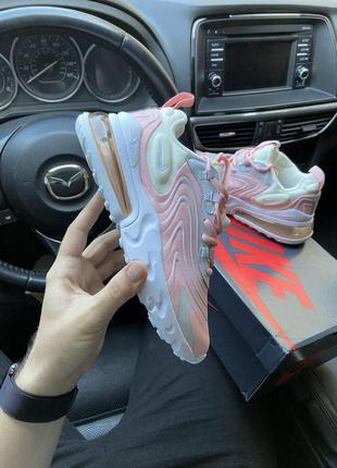 Nike air max 270 react barely rose