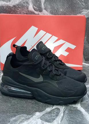 Nike air max 270 react мужские кроссовки, черные,осенние,сетка