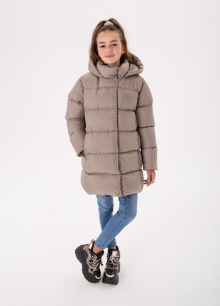 Детский зимний пуховик «мери» 128-146