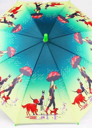 Зонт трость детская Lucky elephants механический