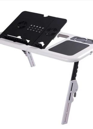 Портативный складной столик для ноутбука с вентиляциейE-Table