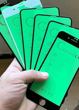 Гибкое 9D Защитное стекло IPhone 7 plus 8 plus black