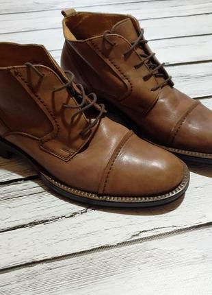 Ботинки кожаные натуральные piper черевики шкіряні натуральні
