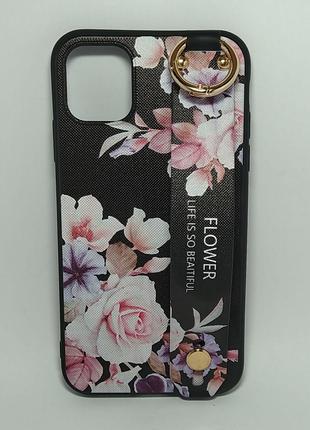 Задня накладка iPhone 11 Pro Max Flower Rope Case Black