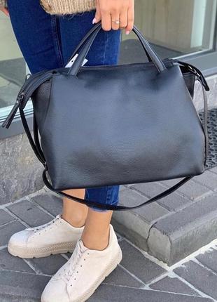Женская кожаная сумка, сумка из натуральной кожи Италия
