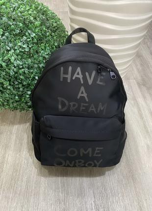Рюкзак черный, модный рюкзак, стильный рюкзак