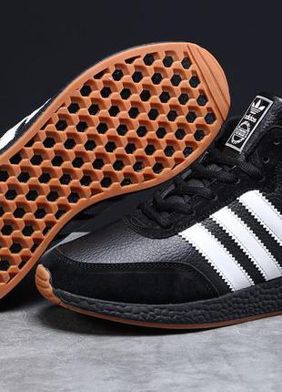 Зимние мужской кроссовки 31283 ► adidas iniki, черные
