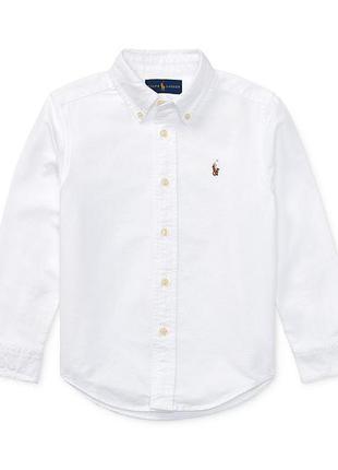 Стильная, качественная, белоснежная рубашка для мальчика ralph...
