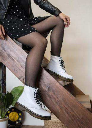 Dr. martens 1460 white 🆕 осенние ботинки мартинс 🆕 купить нало...