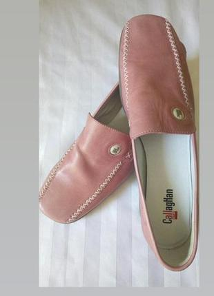 Туфли кожаные натуральные мокасины  испания