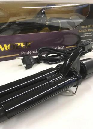 Плойка для волос тройная Pro Mozer Ceramic MZ 6621