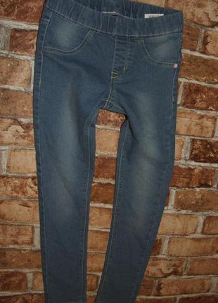Стрейч джинсы джеггинсы скинни узкачи девочке 7 - 8 лет
