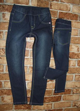 Стрейч джинсы джеггинсы скинни узкачи девочке 3 - 12 лет