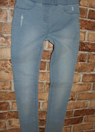 Стрейч джинсы джеггинсы скинни узкачи девочке 14 лет