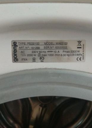 Разборка стиральной машины Gorenje WA 63100