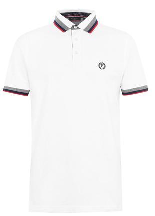 Рубашка поло футболка Pierre Cardin Polo Pique White Оригинал бел