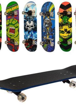Скейт, скейтборд MS 0355-4, колеса ПУ, 6 видов