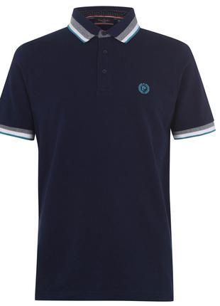 Рубашка поло футболка Pierre Cardin Polo Pique Navy Оригинал Кант