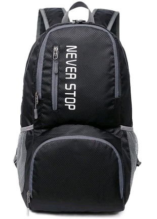 Туристический рюкзак черный Keloe B10 Складной Водонепроницаемый