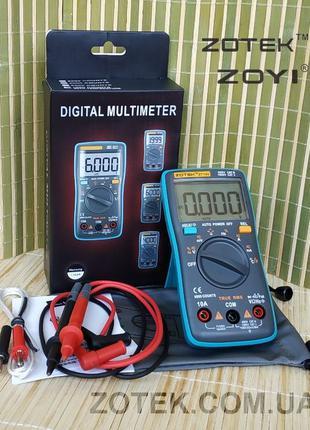 ZOTEK ZT102 Защищённый Мультиметр ZT101 ( AN8002, RM102 ) тестер