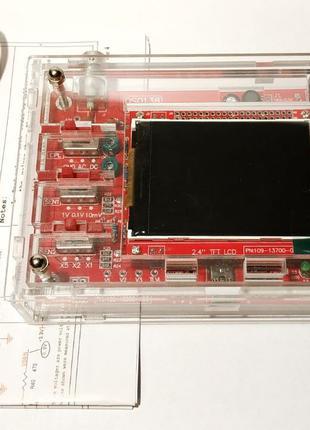 Новый DSO138 + КОРПУС акриловый, Цифровой осциллограф, Собранный