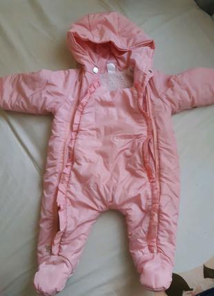 Комбинезон осень-зима 74 размер детский на девочку