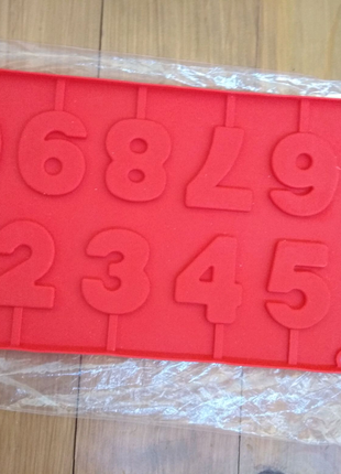 Форма для шоколада, леденцов Цифры на палочке