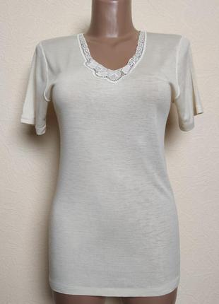 Шерстяная футболка термобелье calida hanro швейцария /2885/