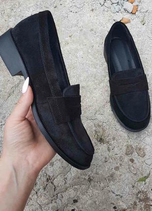 Черные замшевые туфли-лоферы!