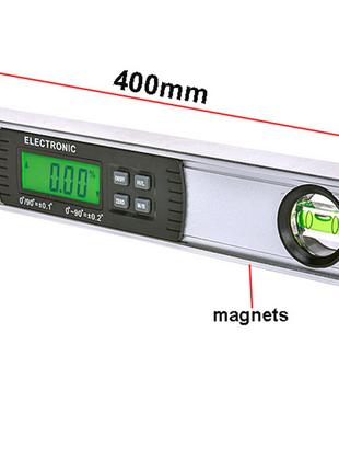 Цифровой уровень с магнитами 360 градусов (сверхяркая подстветка)