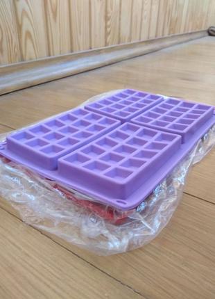 Форма силиконовая для выпечки вафель, венских вафель + Акция!