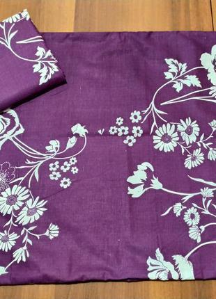 Наволочки - цветы на фиолетовом, быстрая отправка, все размеры