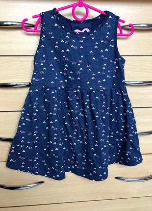 Коттоновое летнее платье в сердечки yd, 4-5 лет, 110 см