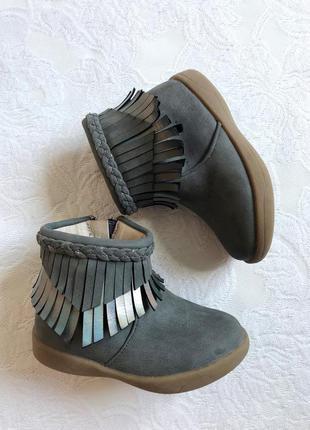 Стильные ботинки/сапожки/сапоги с блестящей бахрамой george