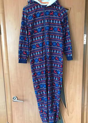 Флисовая пижама с капюшоном/слип/кигуруми/человечек george, с ...