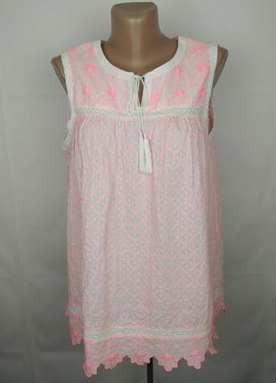 Блуза новая натуральная вышивка кружево оригинал white stuff u...