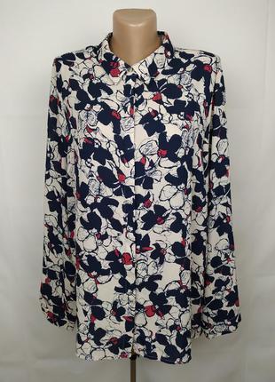Блуза красивая в принт большого размера marks&spencer uk 24/52...