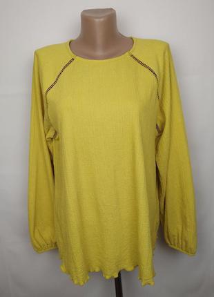 Блуза стрейчевая красивая желтая marks&spencer uk 16/44/xl