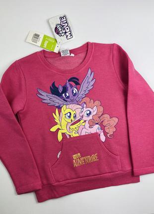Sale! свитшот на флисе с кармашком my little pony
