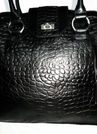 Стильная большая сумка натуральная кожа benson