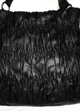 Стильная большая сумка натуральная кожа john rocha