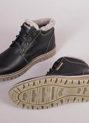 Ботинки мужские зимние кожаные черные 💥