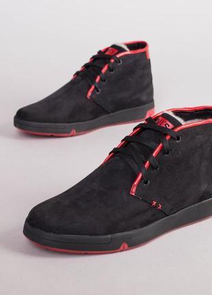 Мужские зимние ботинки из нубука 💥