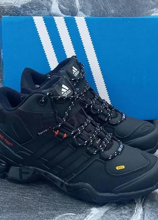 Мужские зимние кроссовки adidas terrex winter кожаные,с мехом,...