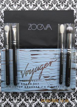 Дорожный набор кистей для макияжа zoeva voyager travel brush s...